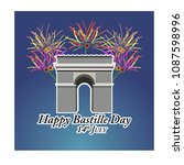 concept for the french national ... | Shutterstock .eps vector #1087598996