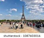 paris   may 8  2018  tourists... | Shutterstock . vector #1087603016