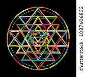 sacred geometry and alchemy... | Shutterstock .eps vector #1087606832