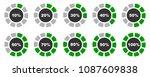 percentage diagrams set ... | Shutterstock .eps vector #1087609838