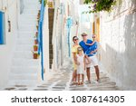 family vacation in europe.... | Shutterstock . vector #1087614305