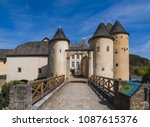 bourglinster castle in... | Shutterstock . vector #1087615376