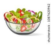 salad  vegetable  vector. salad ... | Shutterstock .eps vector #1087620962