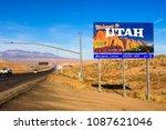 st. george  utah  usa  ... | Shutterstock . vector #1087621046