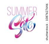 sale calligraphic lettering.... | Shutterstock .eps vector #1087627646