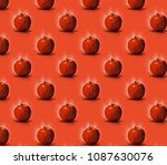 pattern apples. fresh and wet... | Shutterstock . vector #1087630076