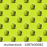 pattern apples. fresh and wet... | Shutterstock . vector #1087630082