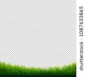 green grass frame transparent... | Shutterstock .eps vector #1087633865