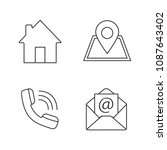 information center linear icons ... | Shutterstock .eps vector #1087643402