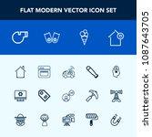 modern  simple vector icon set...   Shutterstock .eps vector #1087643705