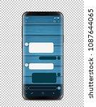 modern smartphone with blank...