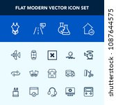 modern  simple vector icon set... | Shutterstock .eps vector #1087644575