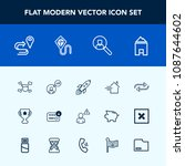 modern  simple vector icon set... | Shutterstock .eps vector #1087644602