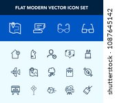 modern  simple vector icon set... | Shutterstock .eps vector #1087645142