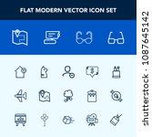 modern  simple vector icon set...   Shutterstock .eps vector #1087645142