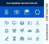 modern  simple vector icon set... | Shutterstock .eps vector #1087646768