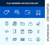 modern  simple vector icon set... | Shutterstock .eps vector #1087646918