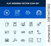 modern  simple vector icon set... | Shutterstock .eps vector #1087647302
