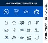 modern  simple vector icon set...   Shutterstock .eps vector #1087647302