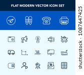 modern  simple vector icon set... | Shutterstock .eps vector #1087647425