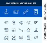 modern  simple vector icon set... | Shutterstock .eps vector #1087647602
