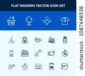 modern  simple vector icon set... | Shutterstock .eps vector #1087648538