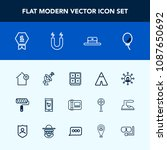 modern  simple vector icon set... | Shutterstock .eps vector #1087650692