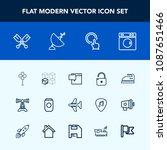 modern  simple vector icon set... | Shutterstock .eps vector #1087651466