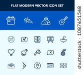 modern  simple vector icon set... | Shutterstock .eps vector #1087651568
