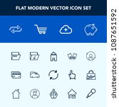 modern  simple vector icon set... | Shutterstock .eps vector #1087651592