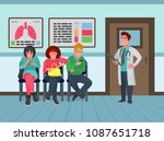 patients in the hospital... | Shutterstock .eps vector #1087651718
