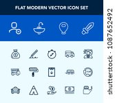 modern  simple vector icon set... | Shutterstock .eps vector #1087652492