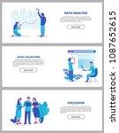 business data analysis  data... | Shutterstock .eps vector #1087652615