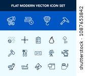 modern  simple vector icon set... | Shutterstock .eps vector #1087653842