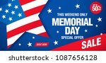 memorial day sale banner layout ... | Shutterstock .eps vector #1087656128