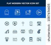 modern  simple vector icon set... | Shutterstock .eps vector #1087656605