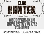 vintage font handcrafted vector ... | Shutterstock .eps vector #1087657025