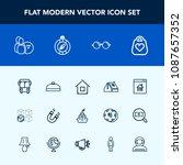 modern  simple vector icon set... | Shutterstock .eps vector #1087657352