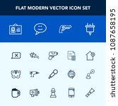 modern  simple vector icon set...   Shutterstock .eps vector #1087658195