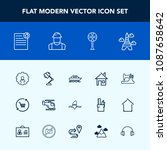 modern  simple vector icon set... | Shutterstock .eps vector #1087658642