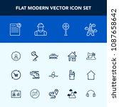 modern  simple vector icon set... | Shutterstock .eps vector #1087658642