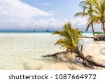 a view from the paradise island ... | Shutterstock . vector #1087664972