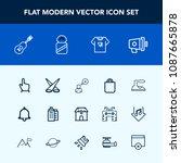 modern  simple vector icon set... | Shutterstock .eps vector #1087665878