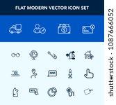modern  simple vector icon set... | Shutterstock .eps vector #1087666052