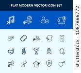 modern  simple vector icon set... | Shutterstock .eps vector #1087666772