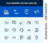 modern  simple vector icon set... | Shutterstock .eps vector #1087666916