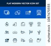 modern  simple vector icon set... | Shutterstock .eps vector #1087670555