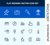 modern  simple vector icon set... | Shutterstock .eps vector #1087672436