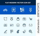modern  simple vector icon set... | Shutterstock .eps vector #1087672472