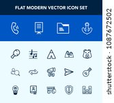 modern  simple vector icon set... | Shutterstock .eps vector #1087672502